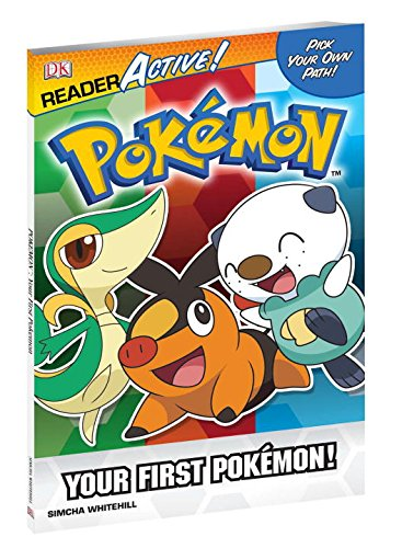 Pokemon ReaderActive: Your First Pokemon (Dk Readers Active: Pokemon) 9780756653750 A Pokémon reading experience like no other! Kids are in control, making their own decisions to advance the story, capture and train Poké