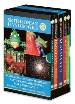 9780756697822: Smithsonian Handbooks Boxed Set: Dinosaurs, Insects, Mammals, Reptiles and Amphibians, Stars and Planets