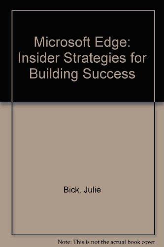 9780756760717: Microsoft Edge: Insider Strategies for Building Success