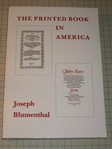 9780756761899: Printed Book in America