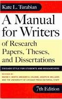 9780756983550: A Manual for Writers of Research Papers, Theses, and Dissertations: Chicago Style for Students and Researchers (Chicago Guides to Writing, Editing, & Publishing (PB))