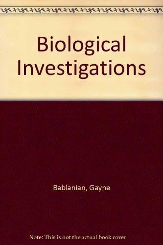 9780757503375: Biological Investigations