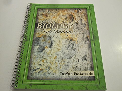 9780757505355: INTRODUCTION TO BIOLOGY LAB MANUAL