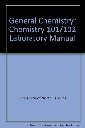 9780757513817: GENERAL CHEMISTRY: CHEMISTRY 101/102 LABORATORY MANUAL