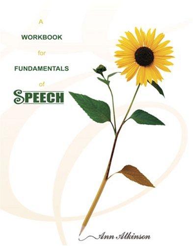 9780757514647: A WORKBOOK FOR FUNDAMENTALS OF SPEECH