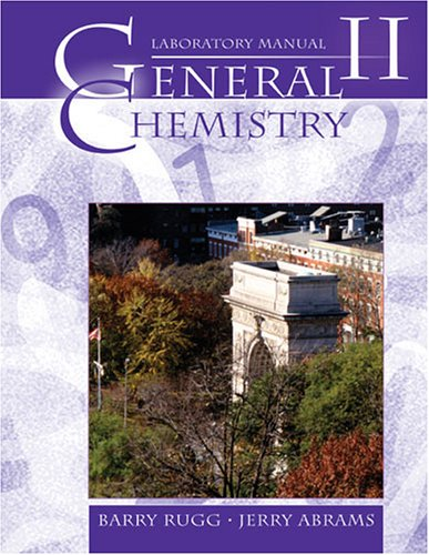 Laboratory manual chemistry abebooks general chemistry ii laboratory manual v 2 rugg barry abrams fandeluxe Images