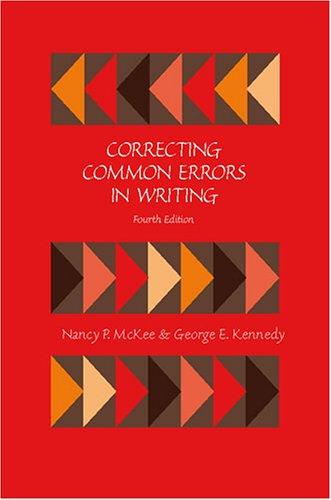 9780757526398: CORRECTING COMMON ERRORS IN WRITING