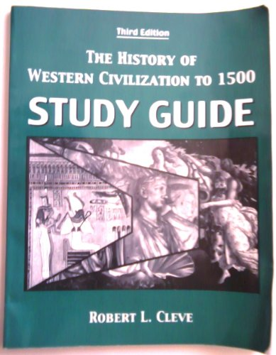 9780757527135: THE HISTORY OF WESTERN CIVILIZATION TO 1500: STUDY GUIDE
