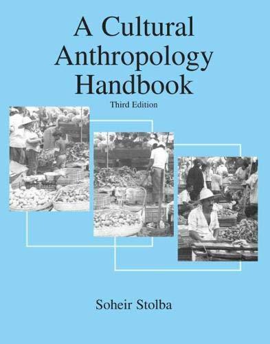 9780757527562: A Cultural Anthropology Handbook