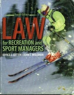 9780757530456: Law for Recreation and Sport Managers
