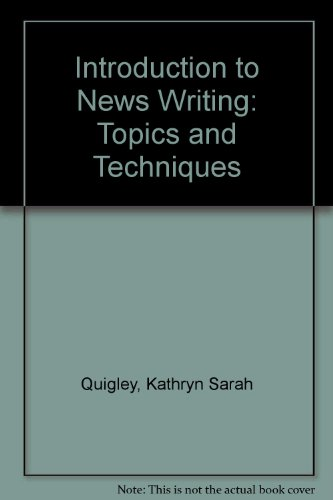 9780757531187: INTRODUCTION TO NEWS WRITI`NG: TOPICS AND TECHNIQUES