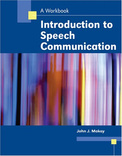 9780757533167: INTRODUCTION TO SPEECH COMMUNICATION: A WORKBOOK