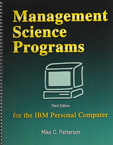 9780757537585: Management Science Programs for the IBM Personal Computer