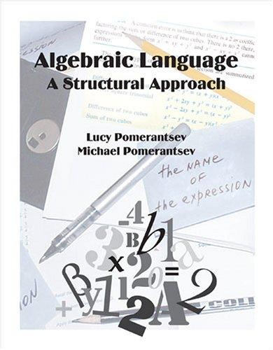 9780757538391: ALGEBRAIC LANGUAGE: A STRUCTURAL APPROACH
