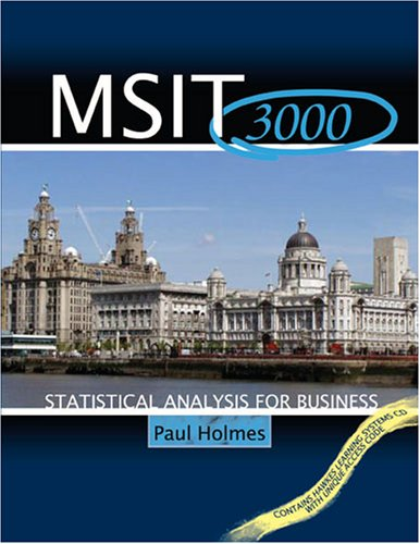 9780757538865: MSIT 3000: STATISTICAL ANALYSIS FOR BUSINESS