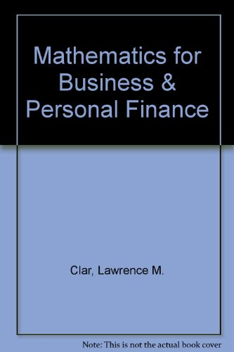 9780757538964: MATHEMATICS FOR BUSINESS AND PERSONAL FINANCE