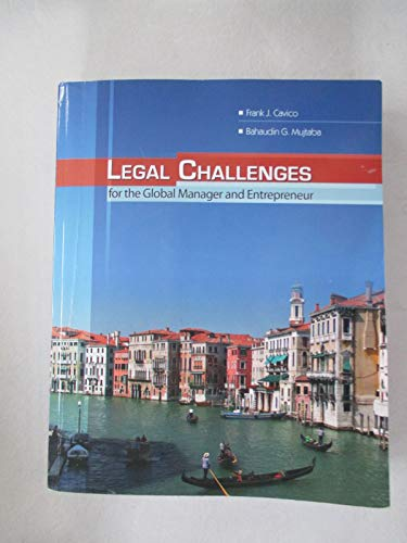 9780757540370: Legal Challenges for the Global Manager and Entrepreneur