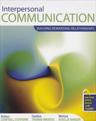 9780757541100: Interpersonal Communication: Building Rewarding Relationships