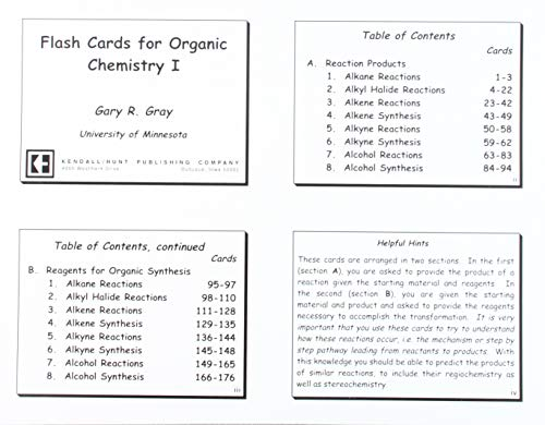 9780757543012: FLASH CARDS FOR ORGANIC CHEMISTRY I