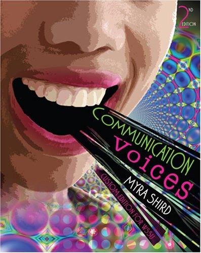 9780757545900: Communication Voices: Custom Edition For Winston Salem State University