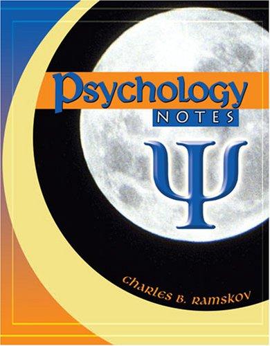 Psychology Notes: RAMSKOV CHARLES B