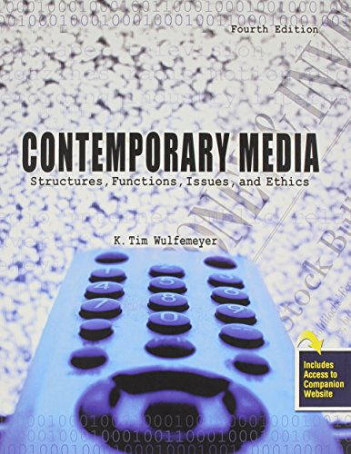 9780757553097: Contemporary Media: Structures, Functions, Issues and Ethics