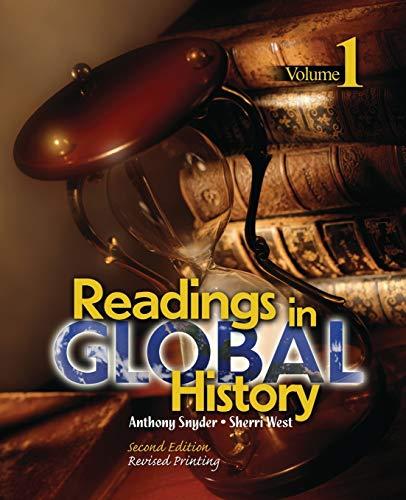 9780757553202: Readings in Global History: Volume 1