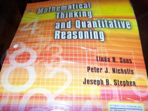 9780757557736: MATHEMATICAL THINKING AND QUANTITATIVE REASONING
