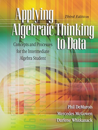 9780757559365: Applying Algebraic Thinking to Data: Concepts and Processes for the Intermediate Algebra Student