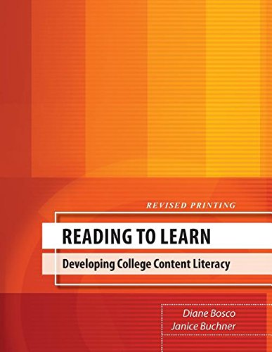 9780757565960: Reading to Learn: Developing College Content Literacy