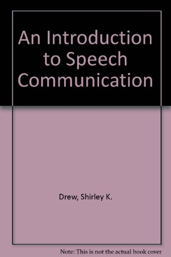 9780757566479: An Introduction to Speech Communication