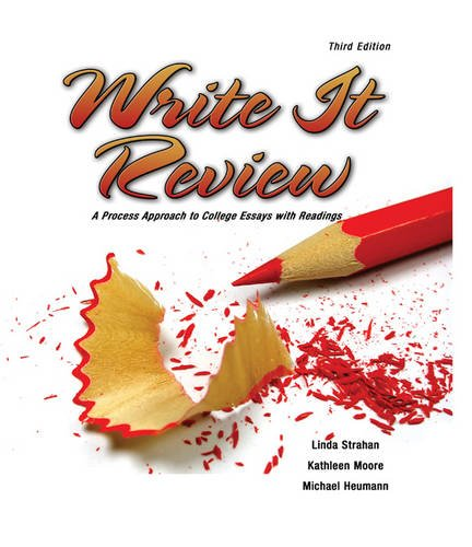 Write It Review: A Process Approach to: STRAHAN LINDA, MOORE