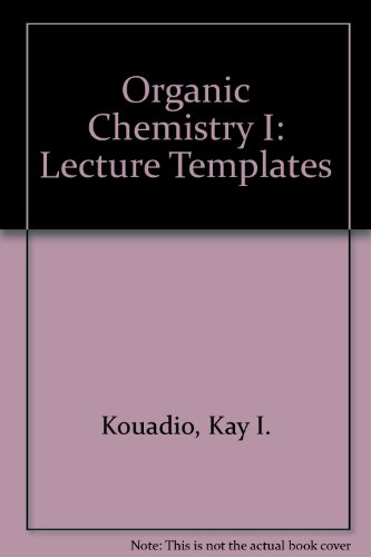 9780757570957: Organic Chemistry I: Lecture Templates