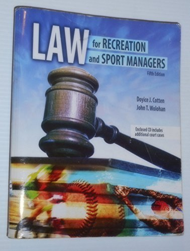 9780757571800: Law for Recreation and Sport Managers