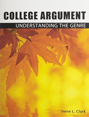 9780757572982: College Argument: Understanding the Genre
