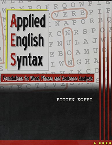 9780757575075: Applied English Syntax: Foundations for Word, Phrase, and Sentence Analysis