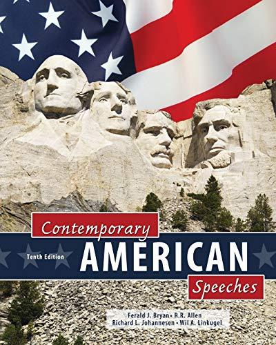 Contemporary American Speeches: JOHANNESEN RICHARD, ALLEN