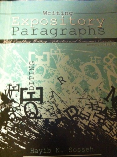 9780757577949: Writing Expository Paragraphs: Enabling Writing Activies and Grammar Exercises