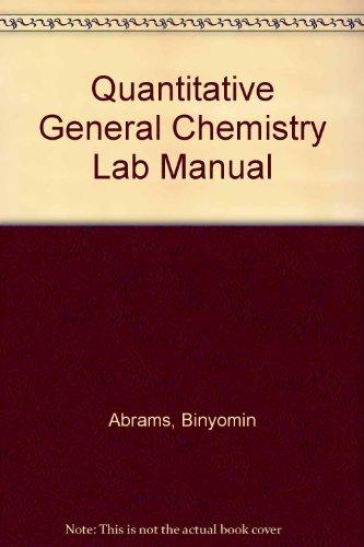 9780757584312: Quantitative General Chemistry Lab
