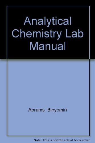 9780757584336: Analytical Chemistry Lab Manual - AbeBooks
