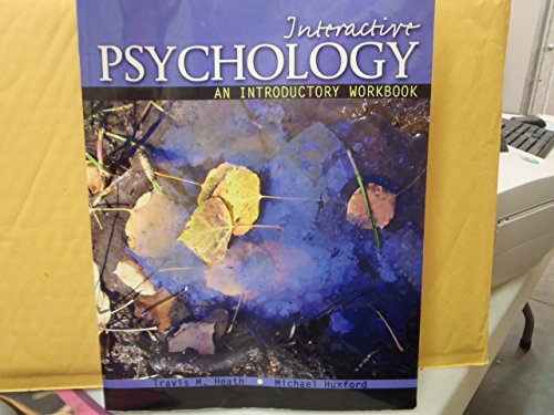 9780757590016: Interactive Psychology: An Introductory Workbook