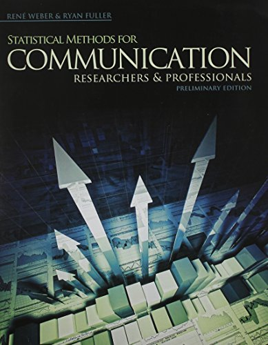 9780757597152: Statistical Methods for Communication Researchers and Professionals: Preliminary Edition