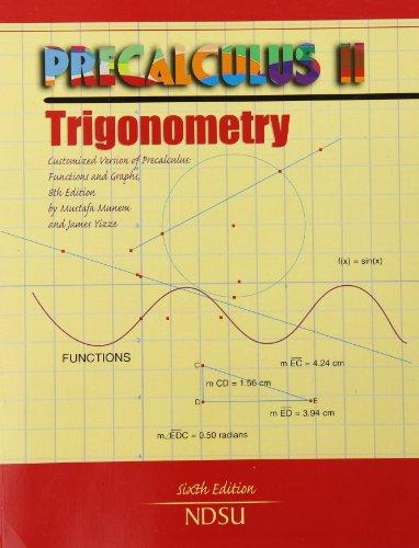 9780757599187: Precalculus II: Trigonometry: Customized Version of