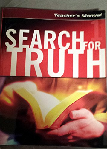 Search for Truth #1 Home Bible Study Course. Teacher's Manual