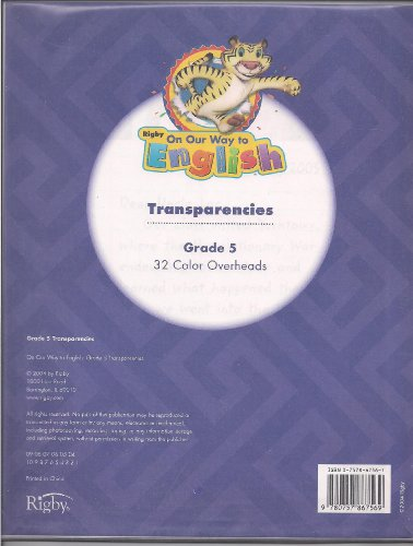 Rigby On Our Way to English: Transparencies Grade 5 Themes 1-8: RIGBY