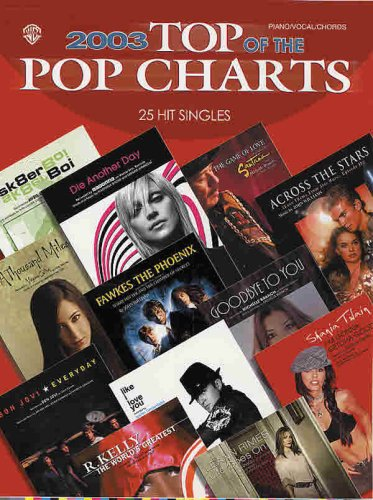 2003 Top of the Pop Charts -- 25 Hit Singles: Piano/Vocal/Chords: Alfred Music