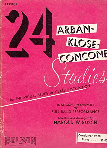 9780757902031: 24 Arban-Klose-Concone Studies: Bassoon