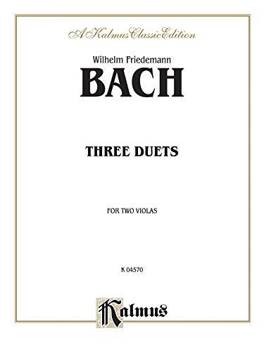 9780757903755: Three Duets for Two Violas (Kalmus Edition)