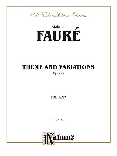 9780757904370: Theme and Variations, Op. 73 (Kalmus Edition)