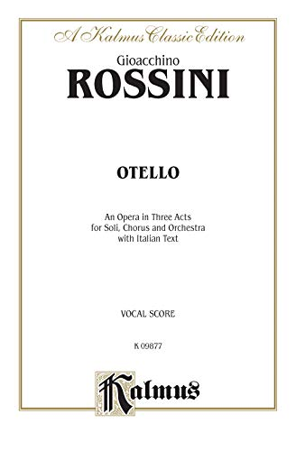 9780757905087: Otello: Italian Language Edition, Comb Bound Vocal Score (Kalmus Edition) (Italian Edition)